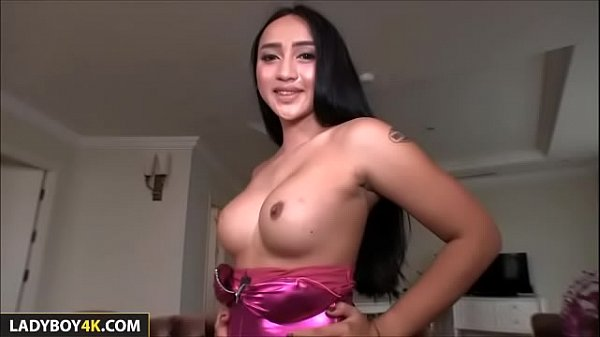 Threesome POV With Ladyboy Natty and Shemale
